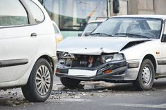 Car crash collision Stock Photography