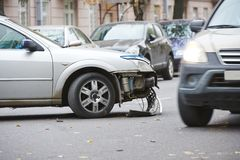 Car crash collision Royalty Free Stock Photo