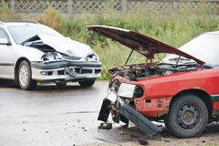 Car crash collision Royalty Free Stock Photography