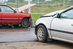 Car crash collision Stock Image