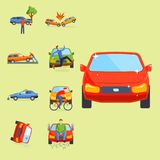 Car crash collision traffic insurance safety automobile Stock Images