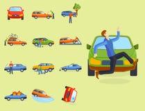 Car crash collision traffic insurance safety automobile emergency  Royalty Free Stock Image