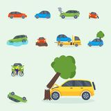 Car crash collision traffic insurance safety automobile   Royalty Free Stock Photography