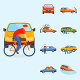 Car crash collision traffic insurance safety automobile emergency   Stock Photos