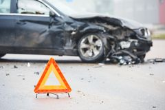 Car crash collision in urban street Royalty Free Stock Photo