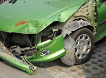 Car Crash. Car destroyed in a crash stock image