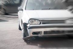 Car crash detail Stock Photo