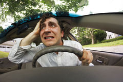 Car Crash Face Royalty Free Stock Image