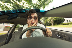 Car Crash Face Stock Images