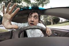 Car Crash Face Stock Photography