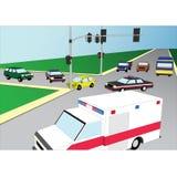 Car crash. Flat 3d Stock Photography