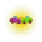 Car crash icon in comics style Stock Photos