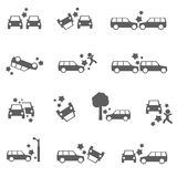 Car crash stock illustration
