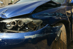 Car crash image with damage Stock Photography