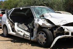 Car crash image with damage Stock Photography