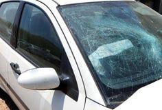 Car crash image with damage Stock Photo