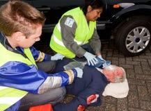 Car crash injury Royalty Free Stock Image