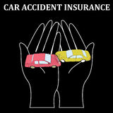 Car crash insurance business on softly vector illustration