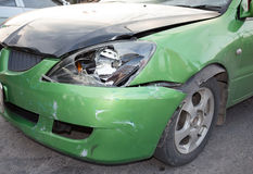 Car crash, insurance. Fracture of the car accident Stock Photos