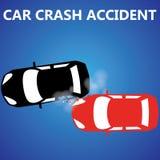 Car crash rear collision Stock Photo