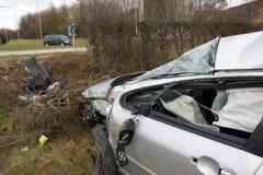 Car crash. Road traffic collision Royalty Free Stock Photos