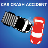 Car crash Side collision Royalty Free Stock Photography