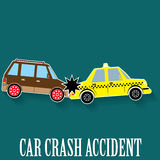 Car crash sticker color Royalty Free Stock Photography