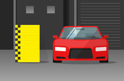 Car crash test vector illustration Royalty Free Stock Photography