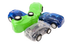 Car crash with toy cars Royalty Free Stock Image