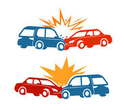 Car crash, traffic accident icon. Vector illustration Royalty Free Stock Photos