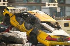 Car Crash - Transformers style royalty free stock image