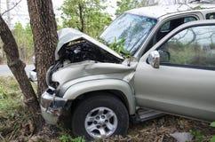 Car crash tree Royalty Free Stock Images