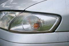 Car crash, the vehicle with a defective blinker Stock Photo