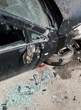 Car crashed during road accident Royalty Free Stock Image