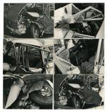car crashed sequence στοκ εικόνα με δικαίωμα ελεύθερης χρήσης