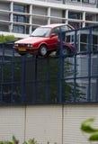 Car crashes through wall Stock Photos
