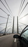 Car crossing the famous Oresund bridge Royalty Free Stock Photos