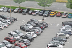 Car crowded parking place Royalty Free Stock Photos
