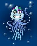 Car?cter c?mico de las medusas divertidas fotografía de archivo libre de regalías