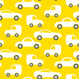 Car cute baby vector seamless pattern. Royalty Free Stock Images
