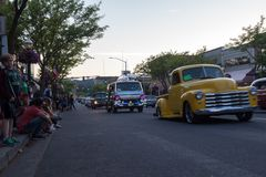 Car D` lane, Classic car show Stock Images