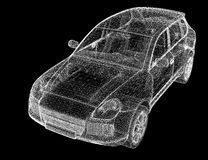 Car 3D model Royalty Free Stock Images