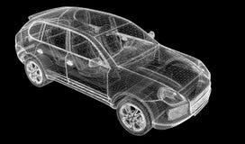 Car 3D model Stock Images
