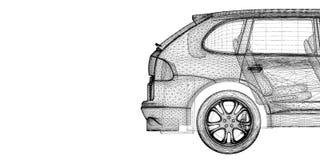 Car 3D model Stock Photography
