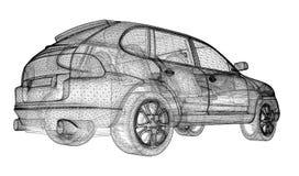 Car 3D model Royalty Free Stock Image