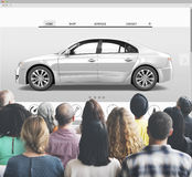 Car 3D Transportation Interface Website Concept Stock Photo