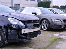 Damaged car Royalty Free Stock Images