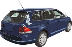 Car of dark blue color Royalty Free Stock Photography