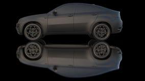 Car dark clay Royalty Free Stock Image