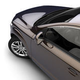 Car with a dark two-tone paint stock illustration